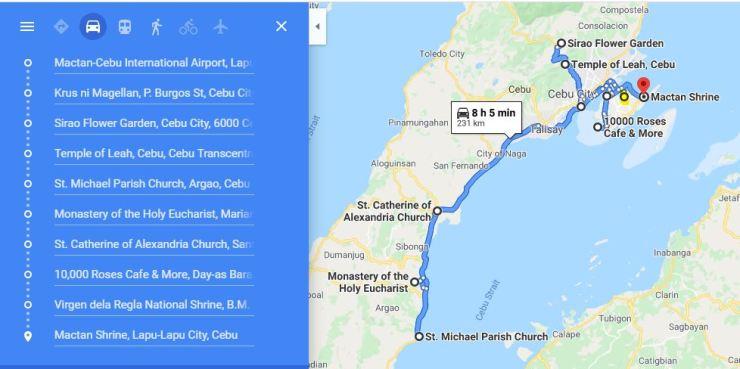 CEBU TRAVEL MAP