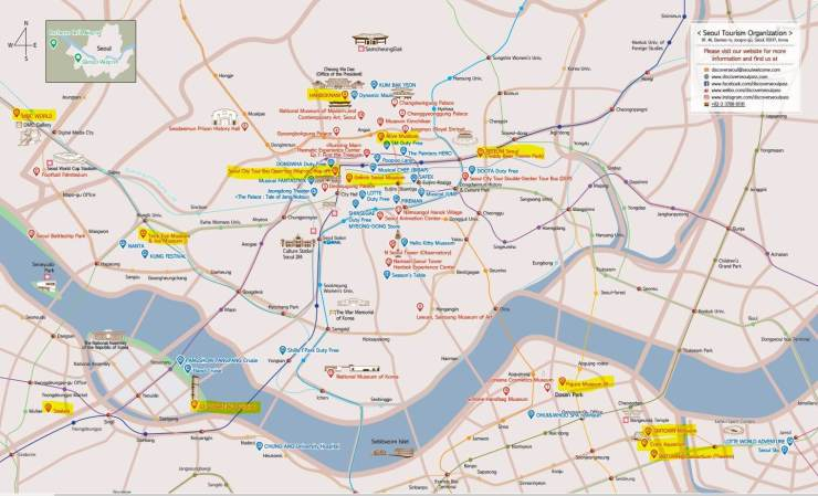 [Discover Seoul Pass Map