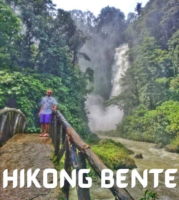 Soaking wet at Hikong Bente (Immeasurable Falls)